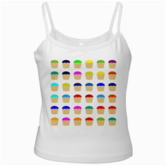 Colorful Cupcakes Pattern Ladies Camisoles