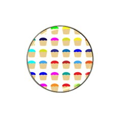 Colorful Cupcakes Pattern Hat Clip Ball Marker (10 Pack) by Nexatart