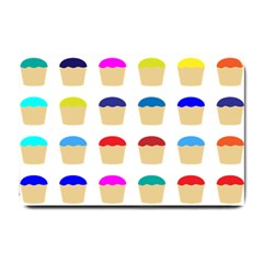 Colorful Cupcakes Pattern Small Doormat