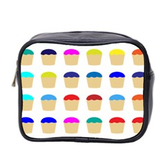 Colorful Cupcakes Pattern Mini Toiletries Bag 2 Side by Nexatart