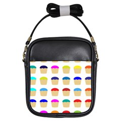 Colorful Cupcakes Pattern Girls Sling Bags by Nexatart