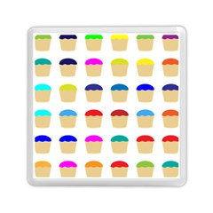 Colorful Cupcakes Pattern Memory Card Reader (square)  by Nexatart