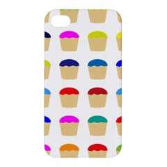 Colorful Cupcakes Pattern Apple Iphone 4/4s Hardshell Case by Nexatart