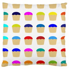 Colorful Cupcakes Pattern Large Cushion Case (two Sides) by Nexatart
