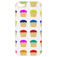 Colorful Cupcakes Pattern Apple Iphone 5 Hardshell Case