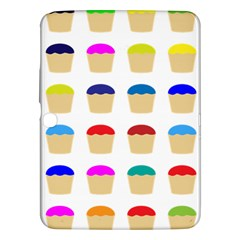 Colorful Cupcakes Pattern Samsung Galaxy Tab 3 (10 1 ) P5200 Hardshell Case  by Nexatart