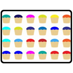 Colorful Cupcakes Pattern Double Sided Fleece Blanket (large)  by Nexatart