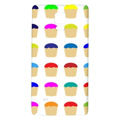 Colorful Cupcakes Pattern Galaxy Note 4 Back Case by Nexatart