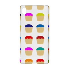 Colorful Cupcakes Pattern Sony Xperia Z3+ by Nexatart