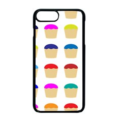 Colorful Cupcakes Pattern Apple Iphone 7 Plus Seamless Case (black)