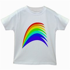 Rainbow Kids White T Shirts