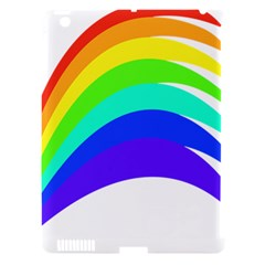 Rainbow Apple Ipad 3/4 Hardshell Case (compatible With Smart Cover) by Nexatart