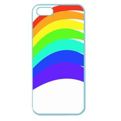 Rainbow Apple Seamless Iphone 5 Case (color) by Nexatart