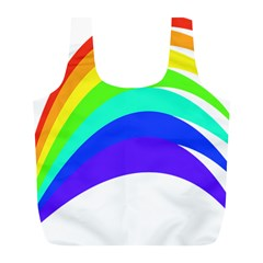 Rainbow Full Print Recycle Bags (l)  by Nexatart