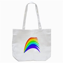 Rainbow Tote Bag (white) by Nexatart