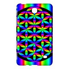 Rainbow Flower Of Life In Black Circle Samsung Galaxy Tab 4 (8 ) Hardshell Case