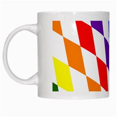 Rainbow Flag Bavaria White Mugs