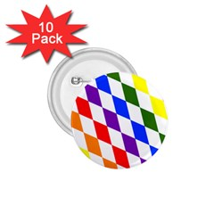 Rainbow Flag Bavaria 1 75  Buttons (10 Pack)