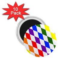 Rainbow Flag Bavaria 1 75  Magnets (10 Pack)  by Nexatart