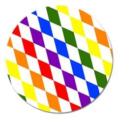 Rainbow Flag Bavaria Magnet 5  (round) by Nexatart