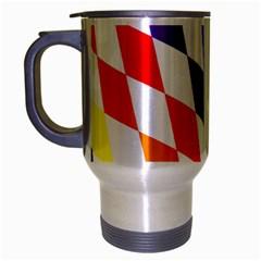 Rainbow Flag Bavaria Travel Mug (silver Gray) by Nexatart