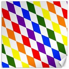 Rainbow Flag Bavaria Canvas 20  X 20