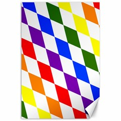 Rainbow Flag Bavaria Canvas 24  X 36  by Nexatart