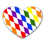 Rainbow Flag Bavaria Heart Mousepads Front