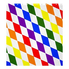 Rainbow Flag Bavaria Shower Curtain 66  X 72  (large)