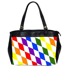 Rainbow Flag Bavaria Office Handbags (2 Sides)  by Nexatart