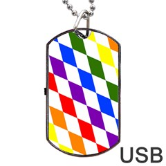 Rainbow Flag Bavaria Dog Tag Usb Flash (one Side)