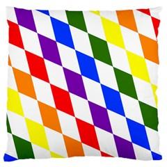 Rainbow Flag Bavaria Large Cushion Case (two Sides) by Nexatart