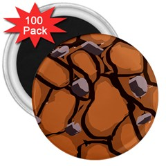 Seamless Dirt Texture 3  Magnets (100 Pack)