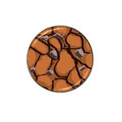 Seamless Dirt Texture Hat Clip Ball Marker by Nexatart