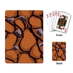 Seamless Dirt Texture Playing Card by Nexatart