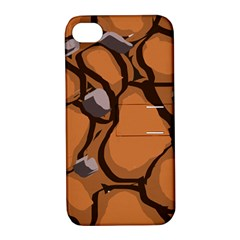 Seamless Dirt Texture Apple Iphone 4/4s Hardshell Case With Stand