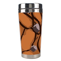 Seamless Dirt Texture Stainless Steel Travel Tumblers by Nexatart