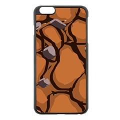 Seamless Dirt Texture Apple Iphone 6 Plus/6s Plus Black Enamel Case by Nexatart