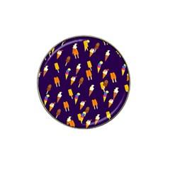 Seamless Ice Cream Pattern Hat Clip Ball Marker (4 Pack) by Nexatart