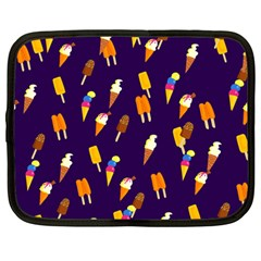 Seamless Ice Cream Pattern Netbook Case (large)