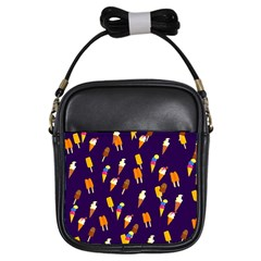 Seamless Ice Cream Pattern Girls Sling Bags by Nexatart