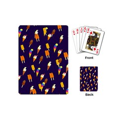 Seamless Ice Cream Pattern Playing Cards (mini)