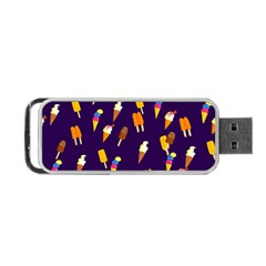 Seamless Ice Cream Pattern Portable Usb Flash (two Sides) by Nexatart