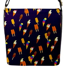 Seamless Ice Cream Pattern Flap Messenger Bag (s) by Nexatart