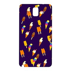 Seamless Ice Cream Pattern Samsung Galaxy Note 3 N9005 Hardshell Back Case
