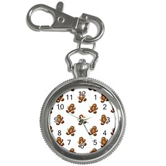 Gingerbread Seamless Pattern Key Chain Watches by Nexatart