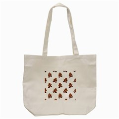 Gingerbread Seamless Pattern Tote Bag (cream)