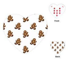 Gingerbread Seamless Pattern Playing Cards (heart)