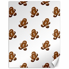 Gingerbread Seamless Pattern Canvas 12  x 16