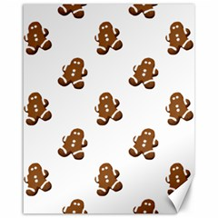 Gingerbread Seamless Pattern Canvas 16  X 20   by Nexatart
